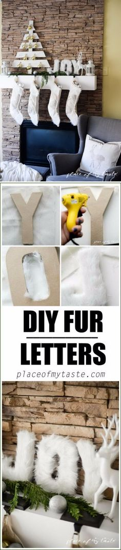 DIY Joy Fur Letters.