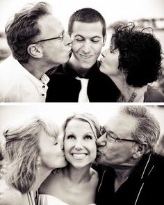 SUCH a great photo idea! Wedding day kisses from Mom and Dad for Bride and Groom! Do you LIKE this idea?