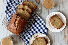 The texture is dense but soft.  It's lightly cinnamon spiced and hearty in the way that feels just right in the morning.  This banana bread ...