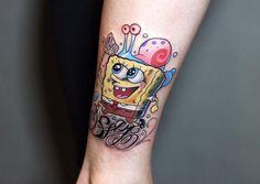 Sponge bob tattoo
