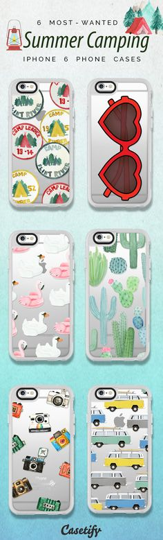 Top 6 Summer Camping iPhone 6 protective phone case designs | Click through to see more iPhone phone case idea >>> https://www.casetify.com/artworks/fdtSeE2FKG #wanderlust | @casetify