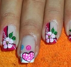 .cute Va Nails, Flower Nails, Cool Nail Designs, Mani Pedi, Nail Arts, Pretty Nails, Finger, Lily, Beauty