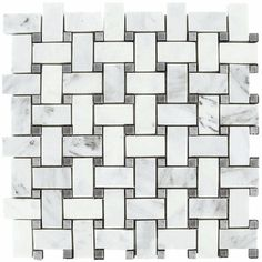 White and Gray Marble Repeating Hex mosaic tile pattern from the Lyric Naturals Stone and Pebble Collection. Waterjet cut marble mosaic patterns for kitchen, bath, hospitality and commercial projects.