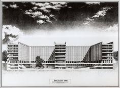 Ampliamento università Bocconi a Milano,1999 - 2000: Ignazio Gardella, F. Nonis e G. Peia - Immagine dell' Archivio Storico Gardella ©, Milano