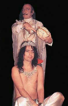 Salvador Dali and Alice Cooper, 1973. ☚ two people who have inspired me