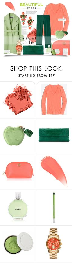 """""""Untitled #1190"""" by sugarmoonmama ❤ liked on Polyvore featuring Bobbi Brown Cosmetics, J.Crew, Nancy Gonzalez, Tory Burch, Burberry, Chanel, Urban Decay and Le Baigneur"""