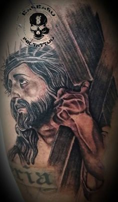 #tattoo #tattooed #tattooist #bestspaintattooartist #sculpturetattoo #blackandgreytattoo #jesuschristtattoo #godtattoo #religioustattoo