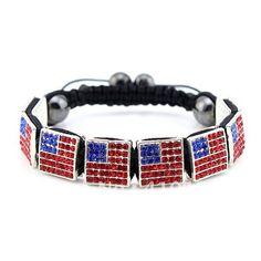 bcx120 heißer verkauf shamballa armband usa union jack flagge weihnachtsgeschenke 12*12mm würfel kristall perlen versandkostenfrei(China (Mainland))