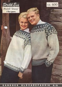 Cathrines Kreative Hjørne: Retro genser - Davos fra - Lilly is Love Fair Isle Knitting, Hand Knitting, Knitting Patterns, Knitting Sweaters, Davos, Norwegian Knitting, Sweaters For Women, Men Sweater, Vintage Knitting