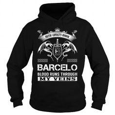 Cool BARCELO Blood Runs Through My Veins (Faith, Loyalty, Honor) - BARCELO Last Name, Surname T-Shirt T-Shirts