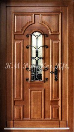 door, ajtó Outdoor Wood Flooring, Wood Steps, Spring Is Here, Wood Doors, Door Design, Kitchen Furniture, Exterior, Door Ideas, Furnitures