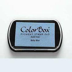 Stempelkissen ColorBox Baby Blue hellblau von frau zwerg auf DaWanda.com 7,-€