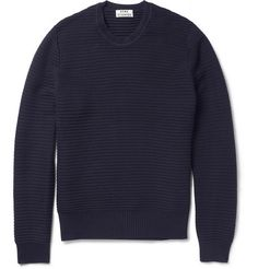 AcneCusco Knitted Cotton Crew Neck Sweater $290