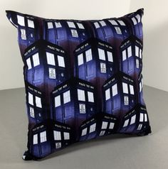 Custom Doctor Who Pillowcase or Toss Pillow- Dalek or Tardis Standard Pillowcase Decorative Plush Pillow- Geeky Time Lord Beddding Cushion by GeekUprising on Etsy https://www.etsy.com/listing/225354594/custom-doctor-who-pillowcase-or-toss