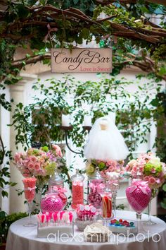 We had a GREAT candy bar at our wedding, it was such a hit! And great for a little extra take home fun!!