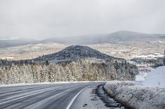 Go on a crisp wintery drive through Charlevoix. #Quebec