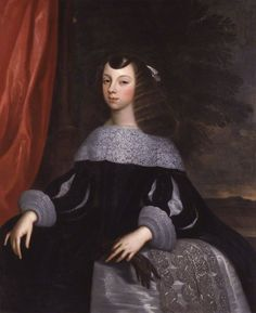 1660-61 Catherine of Braganza by or after Dirk Stoop. National Portrait Gallery, London.