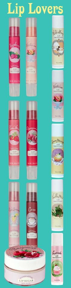 This one's for lip lovers! 4 Lip Smoothies, all 6 varieties of Lip Butter, and 1 Lip Sugar in Pomegranate!