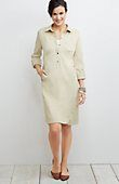 petite live-in chino tab-sleeve shirtdress from J.Jill
