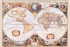 Mappa del mondo III  - Anonimo - STAMPA SU TELA € 20,82