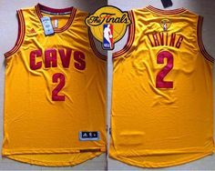 5714e06e9 Revolution 30 Cavaliers Kyrie Irving Gold The Finals Patch Stitched Youth NBA  Jersey