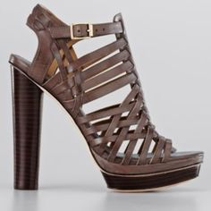 a5d386c7a16 Ann Taylor Dana Leather Platform Sandal High Heels Stilettos