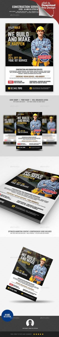 Snow Removal Service Flyers Flyer Templates Pinterest Snow - Snow plowing flyer template