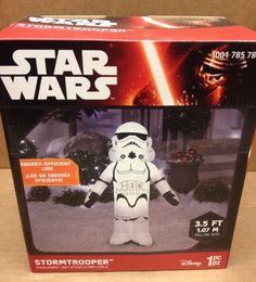 Disney Star Wars Stormtrooper Gemmy Christmas Airblown Inflatable LED Yard Prop