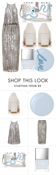 """""""Chainmail + Sky Blue"""" by cherieaustin on Polyvore featuring Maryam Nassir Zadeh, Essie, Wes Gordon, Dolce&Gabbana and Butter London"""