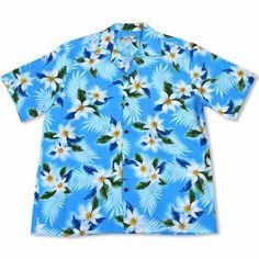 Breezy Blue Hawaiian Rayon Shirt  #hawaiian #madeinhawaii