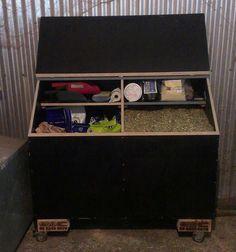 horse feed bin with shelf - Google Search