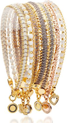 Gorgeous stackable bracelets