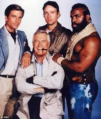 The A-Team. I love this old TV show! Land now :) Best 80s Tv Shows, 80 Tv Shows, Old Shows, Great Tv Shows, Pulp Fiction, Tv Sendungen, Sean Leonard, Cinema Tv, The Blues Brothers