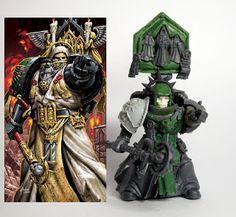 Aurelius Legion: Dark Angels Chaplain - Conversion - Painted