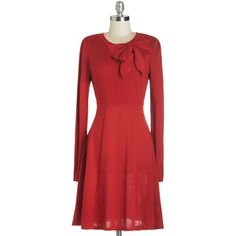 ModCloth Mid-length Long Sleeve A-line Underpinnings of Style Dress