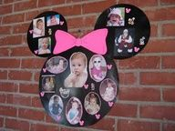 DIY Minnie Mouse Photo Collage  I really like this bit Idk where I would put it at haha :)
