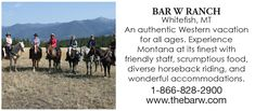 Bar W Guest Ranch - Montana Dude Ranch Vacations Dude Ranch Vacations, Montana Ranch, Guest Ranch, Reunions, Horseback Riding, How To Memorize Things, Horse Riding, Equestrian