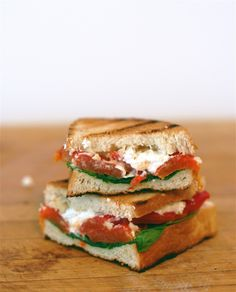 Roasted Pepper and Goat Cheese Panini
