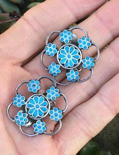 34ed43b2b25 Zuni Turquoise Snowflake Ea... Electric, Snowflakes, Vintage Signs, Native  American