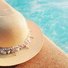 White Fedora Beach Hat