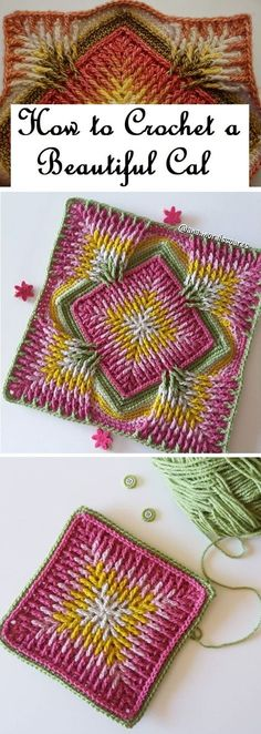 Crochet Cal Tutorial - Design Peak Crochet Pattern - Check this out now!Crochet Cal Tutorial – Design Peak Learn To Crochet Lace Tape Ribbon 5 Beautiful Crochet Ideas for Babies and Toddlers . Crochet Blocks, Granny Square Crochet Pattern, Crochet Squares, Crochet Blanket Patterns, Crochet Motif, Crochet Designs, Crochet Doilies, Crochet Yarn, Knitting Patterns