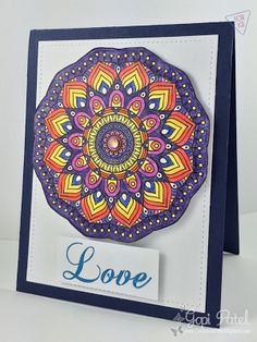 Mandala Card by Create Me Pink