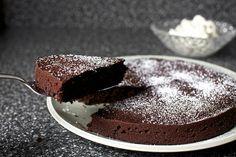 red wine chocolate cake with whipped mascarpone