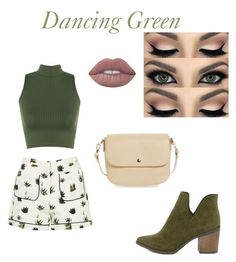 """""""Dancing Green"""" by chookie1603 on Polyvore featuring Topshop, WearAll, Breckelle's and BP."""