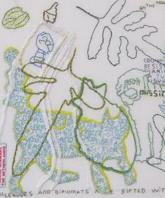 Tilleke Schwartz-Detail with cat (appliqué)