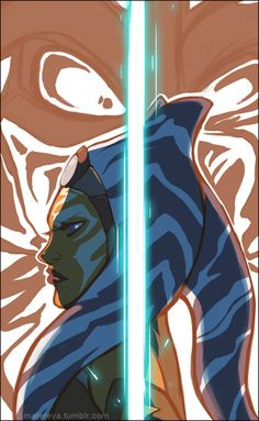 Ahsoka Tano and Darth Vader fan art from Star Wars Rebels