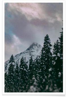 Cascade Mountain als Premium Poster door Leah Flores | JUNIQE