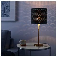 IKEA - NYMÖ, Sjenilo lamp, 24 cm, , Kreiraj svoju visilicu ili podnu lampu kombinirajući sjenilo lampe s kablovima i osnovom po tvom izboru.Prolaskom svjetla kroz rupice na sjenilu u sobi se stvaraju ukrasni svjetlosni motivi.
