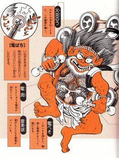 """Anatomy of a Denki yokai 電気妖怪 """"Electric yokai""""."""