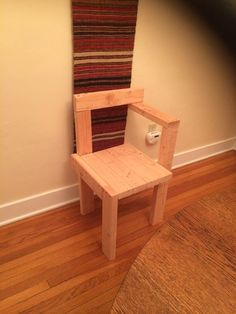 Attempting to re-create the Steltman chair using 2X4's.